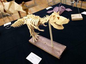ティラノサウルス全身骨格おりがみ
